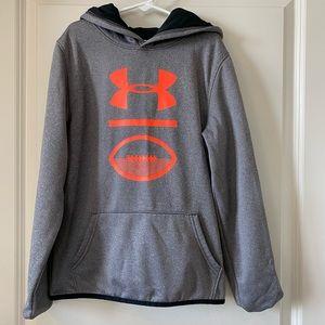 Youth Under Armour big logo hoodie, size Medium